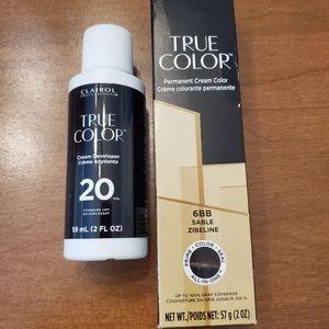 Clairol True Color 6BB & Cream Developer